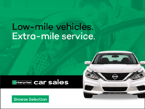 Low-mile vehicles Extra- mile service.  Enterprise Car Sales link to browse selection